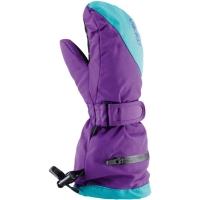Viking Kids Mailo Rękawice narciarskie dziecięce fioletowo turkusowe