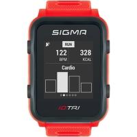 Sigma iD.Tri Zegarek do triathlonu z pulsometrem i GPS czerwony 2020