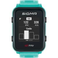 Sigma iD.Tri Set Zegarek do triathlonu z pulsometrem GPS kadencja neon miętowy 2020