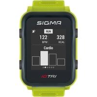 Sigma iD.Tri Set Zegarek do triathlonu z pulsometrem GPS kadencja neon zielony 2020