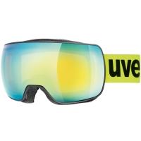 Uvex Compact FM Gogle narciarskie supravision yellow lime mat mirror orange