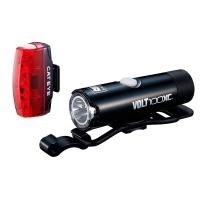 Cateye HL-EL051 VOLT100XC / TL-LD620 Rapid Micro Zestaw lamp do roweru przednia i tylna