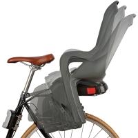Polisport Groovy RS+ Fotelik rowerowy dziecięcy na ramę ciemno szary