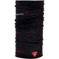 Viking Primaloft 1118 Komin sportowy unisex czarny z czerwonym nadrukiem