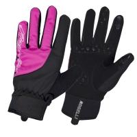 Rogelli Storm Ladies Rękawiczki rowerowe damskie czarno różowe