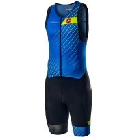 Castelli Free Sanremo Strój triathlonowy bez rękawów drive blue 2020
