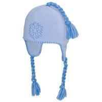 Viking Inka Snowdrop Czapka zimowa z pomponem damska błękitna