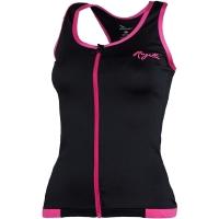 Rogelli Abbey Damska koszulka rowerowa bez rękawków czarno różowa