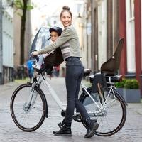 Urban Iki Fotelik rowerowy dziecięcy na ramę shinju white/kinako beige 2020