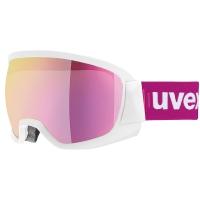 Uvex Contest FM Gogle narciarskie white mat mirror pink 2019