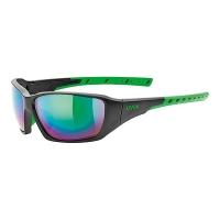 Uvex Sportstyle 219 Okulary sportowe black mat green mirror green