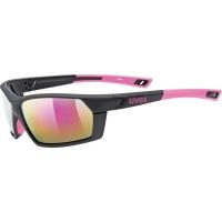 Uvex Sportstyle 225 Okulary sportowe black pink mat
