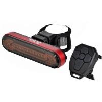 ProX Sargas Lampka rowerowa tylna z pilotem i kierunkowskazami LED aku USB