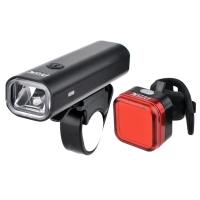 ProX Aero III SET Zestaw lampek rowerowych CREE 400 Lm aku USB