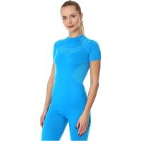 Brubeck Dry Koszulka termoaktywna z krótkim rękawem damska niebieska