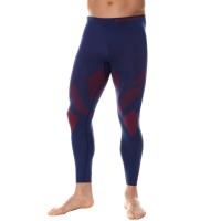 Brubeck Dry Spodnie termoaktywne męskie granatowo czerwone