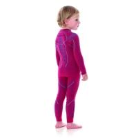 Brubeck Thermo Spodnie dziewczęce kids termoaktywne rubinowe