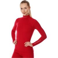 Brubeck Extreme Wool Merino Bluza damska długi rękaw malinowa