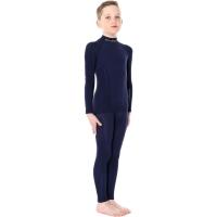 Brubeck Active Wool bluza junior męska z długim rękawem granatowy