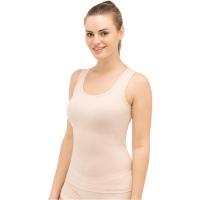 Brubeck Comfort Wool Koszulka damska bez rękawów cielista