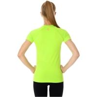 Brubeck Running Air PRO Koszulka damska z krótkim rękawem neonowa