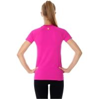 Brubeck Running Air PRO Koszulka damska z krótkim rękawem amarantowa