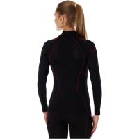 Brubeck Cooler Bluza damska z długim rękawem czarna czerwona