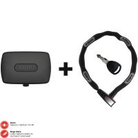 Abus Alarmbox Alarm do roweru black + łańcuch 6806K