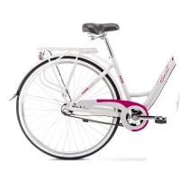 Romet Art Deco 3 Rower miejski 28 szaro-różowy 2020