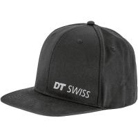 DT Swiss Cap Czapka z daszkiem czarna z silikonowym logo