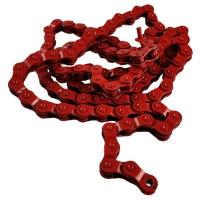 Dartmoor Cutter Łańcuch 1 rzędowy 102 ogniwa czerwony + spinka