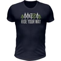 Dartmoor Ride Your Way Koszulka z krótkim rękawem ciemnografitowa