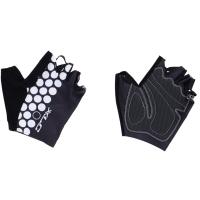 XLC CG S09 Rękawiczki rowerowe krótkie czarno białe