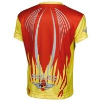 XLC JE S16 Koszulka rowerowa dziecięca czerwono żółta