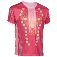 XLC JE S16 Koszulka rowerowa dziecięca różowa