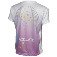 XLC JE S16 Koszulka rowerowa dziecięca fioletowo biała