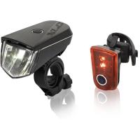 XLC CL S18 Sirius Zestaw lampek przód + tył LED 20 lux akumulator USB