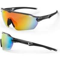 Accent Reflex Okulary czarno szare czerwone soczewki PC