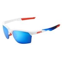 100% Sportcoupe Okulary sportowe matte white mirror blue