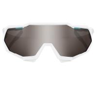 100% Speedtrap Okulary sportowe white mirror silver