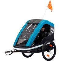 Hamax Avenida Przyczepka rowerowa dziecięca dwuosobowa niebieska