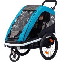 Hamax Avenida One Przyczepka rowerowa dziecięca jednoosobowa niebieska