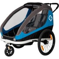 Hamax Traveller Twin Przyczepka rowerowa dziecięca dwuosobowa niebieska