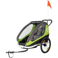 Hamax Traveller Twin Przyczepka rowerowa dziecięca dwuosobowa limonkowa