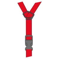 Rudy Project Spare Straps Paski wymienne do kasku red
