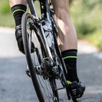 Rogelli RCS-13 Skarpetki rowerowe czarno żółte