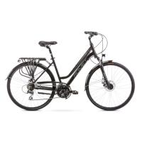 Romet Gazela 4 Rower trekkingowy 28 damski czarno srebrny 2020