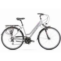 Romet Gazela 3 Rower trekkingowy 28 damski szaro różowy 2019
