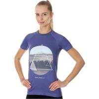 Brubeck City Air Termoaktywna Koszulka damska fioletowa