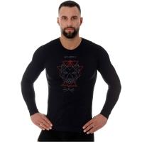 Brubeck Outdoor Wool Pro Termoaktywna Koszulka męska czarna